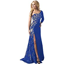 1bcc0aaf4713 Amazon.it  Vestito Da Sera Con Paillettes - Blu