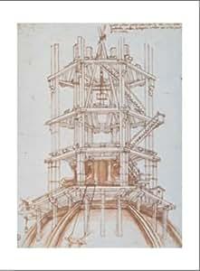 Affiche: Costruzione Della Cupola Del Brunelleschi par Anonimo - Taille de l'image 33 cm L x 41 cm H
