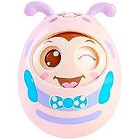 Newin Star Tentetiesos,Juquete de Tentetieso para los Niños y Bebé con Sonido diseño de Abeja Linda (Rosa)