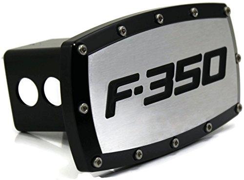 DanteGTS Ford F-350 5,1 cm protection d'attelage Plug gravé billet avec revêtement en poudre Noir
