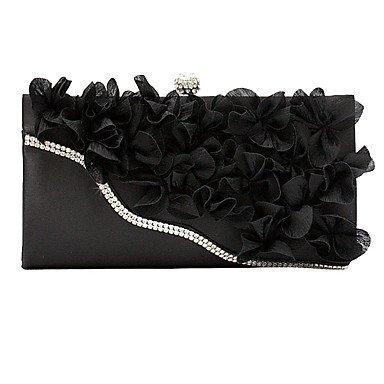 Dame Blumen Abend Tasche Handtasche Mode Handtasche Black