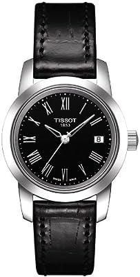 Tissot Classic Dream T0332101605300 de cuarzo, correa de piel color negro