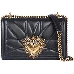 Dolce E Gabbana Mujer Bb6652av96780999 Negro Cuero Bolso De Hombro