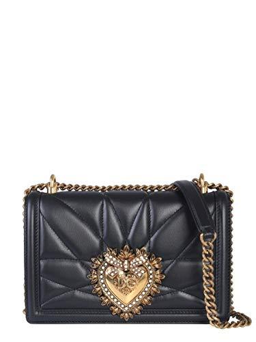 Dolce E Gabbana Borsa A Spalla Donna Bb6652av96780999 Pelle Nero