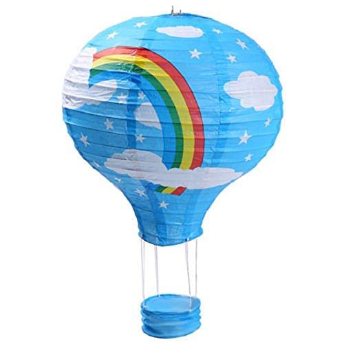 Heißluft-Papier-Laterne, Hochzeits-Party-Dekoration, Lampenschirm, Blue Sky Rainbow, 14