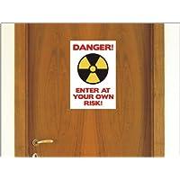 lepni.me N1237 divertido Adolescente puerta Dormitorio vinilo adhesivo señal Peligro de entrar a su