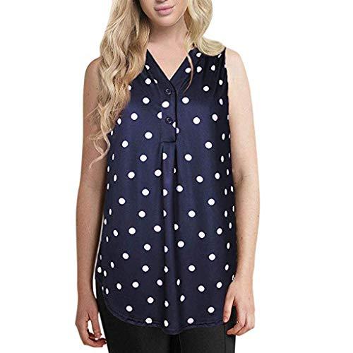 LILICAT Damen Plus Size Fashion Spitzentops Tanktops Sleeveless Weste Sommer V-Ausschnitt Tops Miniweste Kurzarmshirt Spaghettitops Lässige Tank Top
