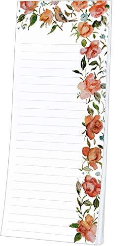 Kühlschrankblöckchen Persische Rosen, Kühlschrankblock Magnetblock Notizblock Magnet Blumen Vogel - Persischen Garten Blumen