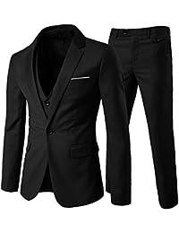 Costume Homme Un Bouton Mode Slim fit Trois Pièces Elégant Business Mariage