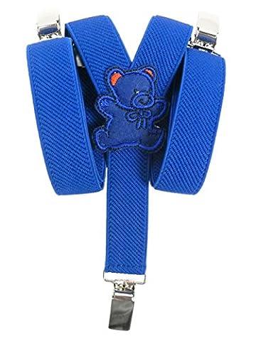 Bretelles entièrement réglable pour Bébés 0-2 ans avec Ours En Peluche conception - Bleu Royal