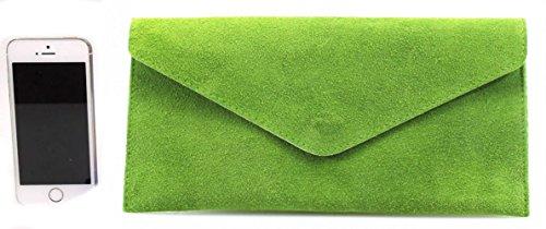 LeahWard Genuine Italian Suede Leder Envelope Clutch Taschen Party Hochzeit Geldbörsen , Geldbeutel , Börsen , Handtasche Marine