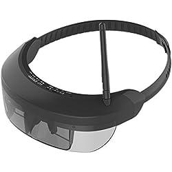 SODIAL Gafas de FPV inalambricas Gafas de Video 3D Vision -730S con Pantalla de 5.8G 40CH DE 98 Pulgadas Teatro Virtual Privado para FPV Quadcopter