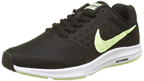 Nike Women's Wmns Downshifter Running Shoes, Black (Black/Barely Volt/White), 6 UK