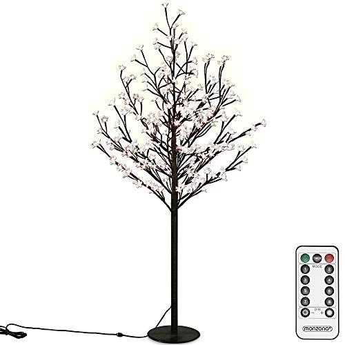 Deuba Kirschblütenbaum 200 LED | 180cm I Fernbedienung I Timer I 8 Leuchtmodi I Lichterbaum Indoor Outdoor | Warmweiß