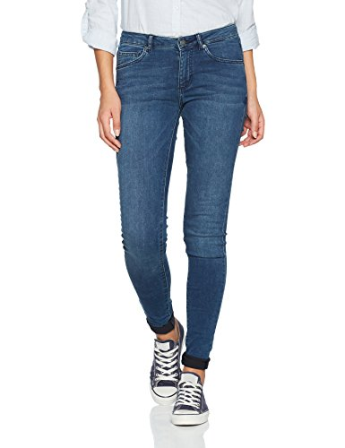 Heavy Destroyed Skinny Jean (Q/S designed by Damen Jeanshose 46710712446, Blau (Blue Denim Heavy Stone Wa 56Z6), 40/L34 (Herstellergröße:40))