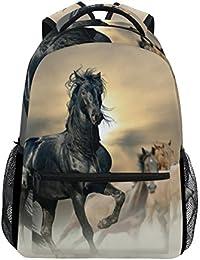 271ea16882 COOSUN Cavalli animato casuale Daypack sacchetto di scuola dello zaino di  viaggio Multicolore