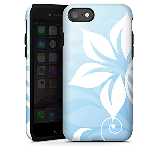 Apple iPhone X Silikon Hülle Case Schutzhülle Blume Ornament Floral Tough Case glänzend