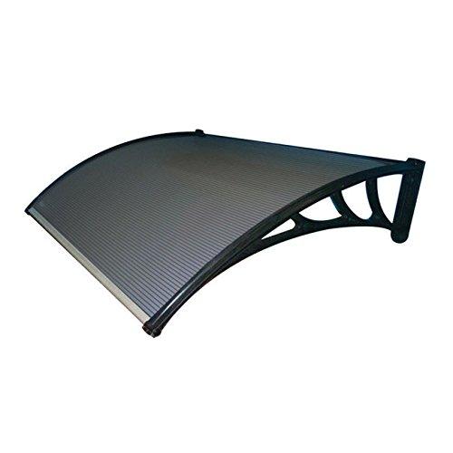 Preisvergleich Produktbild Vordach aus Polycarbonat für außen in kitvetro Fumã ¨ 160 x P120 cm.