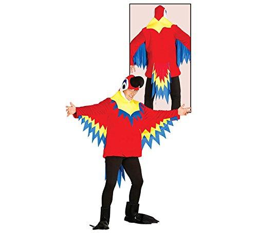 Ara Blau Kind Kostüm - Papageienkostüm bunt Papagei Kostüm Papageikostüm Tier Zoo Kostüm für Damen Herren Erwachsene Gr. M/L, Größe:L