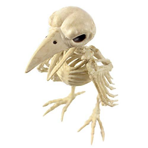 THEE Scary Skull Bone Animai Party Human Skelett Anatomical Model Halloween Dekoration, JPDZS51a-1, crow bone