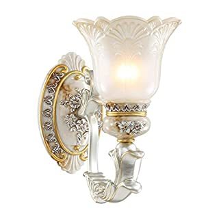 Wall Lamp Wall Light Resin - BD032 American Living Room Aisle European Bedside Retro Creative Stair Wall Lighting (Size : 1head)
