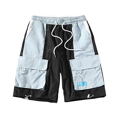 Herren Button Baumwolle Mehrfach Overalls Shorts Fashion Pant New Multi Pocket Tooling Shorts G8UKA White Blue M/L/XL/2XL/3XL/4XL/5XL