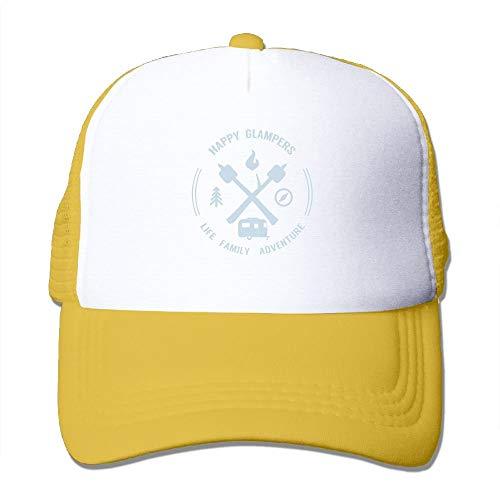 ZMYGH Happy Glampers Mesh Female Low Trucker Baseball Hat
