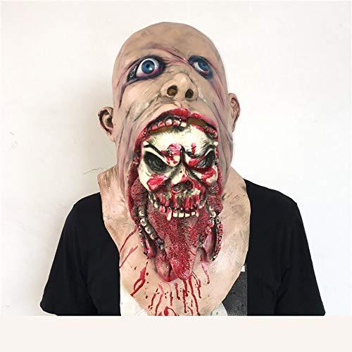 Spring Tide Halloween-Dekoration Terroristenperücke Faules Gesicht Blutige Zombiemaske