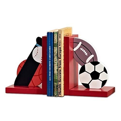 kikixi sport in legno personalità piccoli ornamenti libro blocco per bambini in camera decorazioni europee casa libro da libro stand