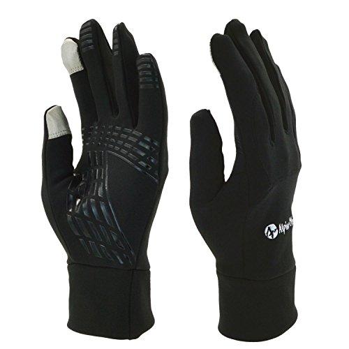 Rutschfest Touchscreen Handschuhe - UPhitnis Sport Fahrradhandschuhe für Herren, Damen - Outdoor Radsport Winddicht Winterhandschuhe mit Schwarz, Rot, Rosa