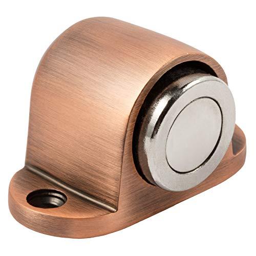 Royal H & H Türstopper magnetisch Heavy Duty Türstopper Wort für Home Office Hotel massivem Metall Edelstahl mit rund Catch Schraube Mount Kit Antique Copper -