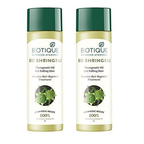 Biotique Bio Bhringraj croissance fraîche Huile thérapeutique Fine, 120ml (pack de 2)