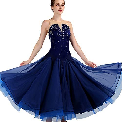 DSDBWQ Ärmellose Modern Dance Kleider für Frauen Gesellschaftstanz Kostüm Performance Dance - Modern Dance Kleid Kostüm