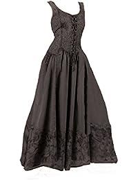e395509ba92 Dark Dreams Kleid Mittelalter Gothic Schnürung Audry schwarz rot grün braun  weiß 36 38 ...