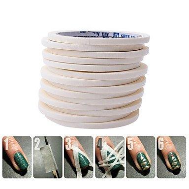 MZP 1 Autocollant d'art de clou Feuille de bandes de dénudage Maquillage cosmétique Nail Art Design