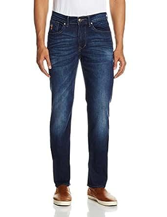 U.S.Polo.Assn. Men's Slim Jeans (8907163603845_USJN0784_40W x 34L_Washed Denim)