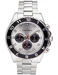 Reloj hombre Louis Villiers de acero Silver 45 mm lvag5877 – 9