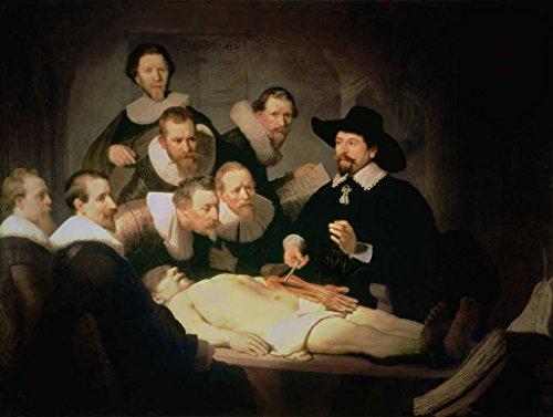 Kunst für Alle Impresión artística/Póster: Harmensz van Rijn Rembrandt The Anatomy Lesson of Dr. Nicolaes Tulp, 1632' - Impresión de alta calidad, foto, póster artístico, 55x40 cm