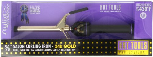 HOT TOOLS Midi 5/8 inch Professional Curling Iron with Multi Heat Control (Model: 1109) by Hot Tools
