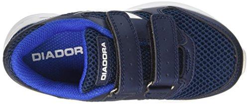 Diadora 101.171269, Scarpe con Velcro Bambini Multicolore (Blu Estate/Bianco)