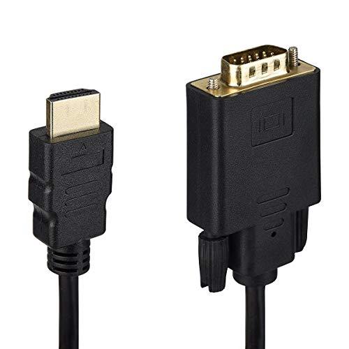 f VGA-Stecker, 1080p, vergoldet, für Apple Samsung, Lenovo, HP, ASUS, Dell, Acer, Sony, Monitor, Computer, Projektor, DVD, PS4-1.8M ()