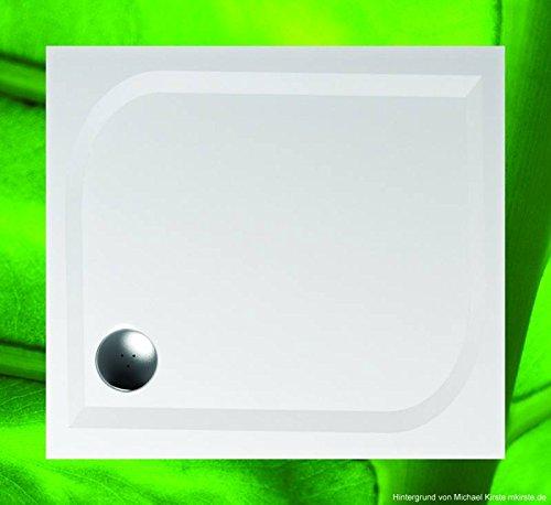 Preisvergleich Produktbild Duschwanne 100x90 Mineralguss - Mineralgussbecken 90x100 x1,7 cm, Weiss