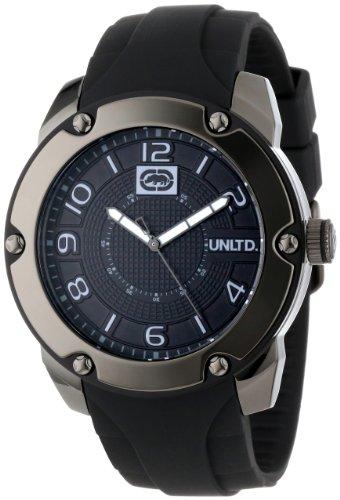 Marc Ecko - E12527G2 - The Solution - Montre Homme - Quartz Analogique - Cadran Noir - Bracelet Silicone Noir