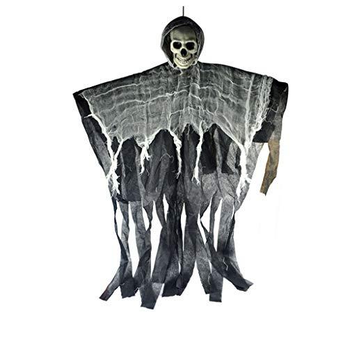 Halloween Accessoires, DIY Gruselige Halloween Skelett Hängen Ghost Terror Death Props Party Tür Dekor Halloween Bar Spukhaus Layout Verkleiden Sich Requisiten