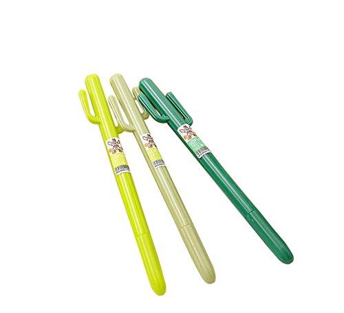westeng-plastic-novelty-cactus-fine-stick-ballpoint-pen-blue-inkpack-of-2color-random