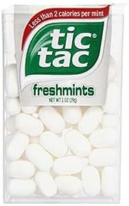 Tic Tac Petits bonbons durs - Parfum Freshmint - Grand paquet (Lot de 12)