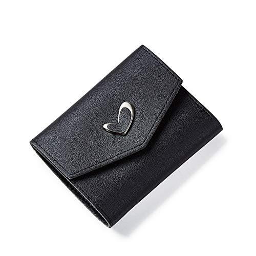 GENGXINLIN Wallet Frauen Tasche Wallet Frauen Liebe Herz Solide Kurze Brieftaschen Kartenhalter Kupplung Pu Leder Brieftaschen Und Geldbörsen Der Frauen EIN - Liebe Kupplung Brieftasche