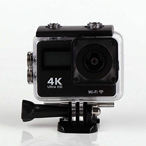 Dmosster Sport Unterwasserkamera WiFi-Fernbedienung Touch 2 Zoll 4K-Display im Freien wasserdichte HD-Kamera DV und Montagezubehör-Kit,Black - Web-kamera Im Freien