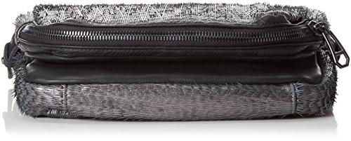 Liebeskind Berlin Suzuka fringe, pochettes Multicolore - Mehrfarbig (black ground/anthrazith 99M1)