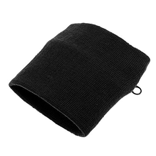 Homyl Wristband Schweißband mit Reißverschlusstasche Armband mit Geldbörse Handgelenkband Geldbeutel Tasche - Schwarz (Geldbeutel Geldbörse Tasche)